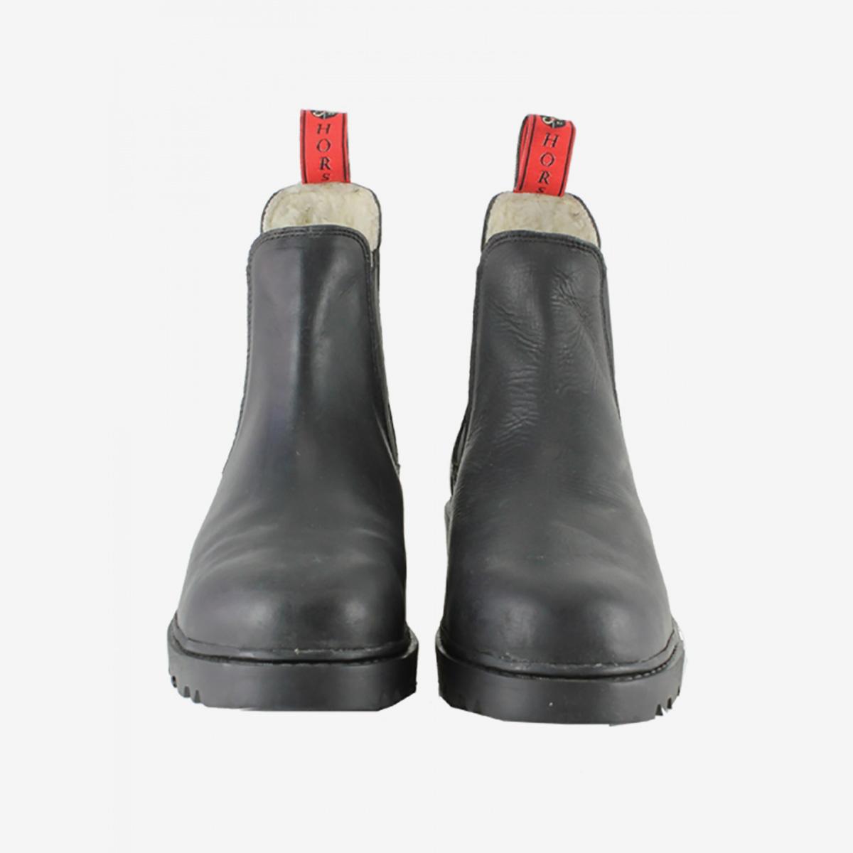 38ef37291421b1 Bottines Mink Horse pour l'écurie, le travail, fourrées, cuir imperméable