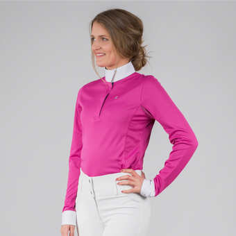 chemise concours equitation, polo concours, polo competition - Horze f71675ce943