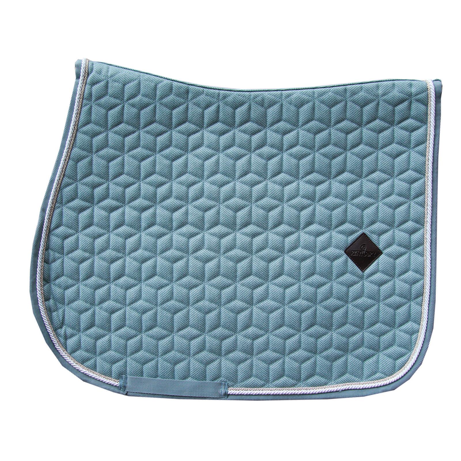 Pony Equipride Tapis de selle de dressage avec voile de mouche et bandages assortis Bleu roi